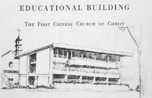 Architectural Drawing of the Founders' Hall